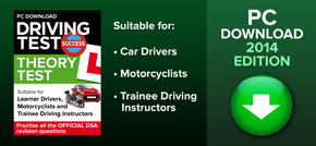 Download official revision questions direct to your PC suitable for learner car drivers motorcyclists and trainee driving instructors